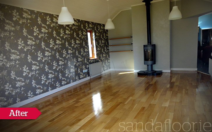 Oak Floor Sanding (Dining Room) Naas, Kildare - After