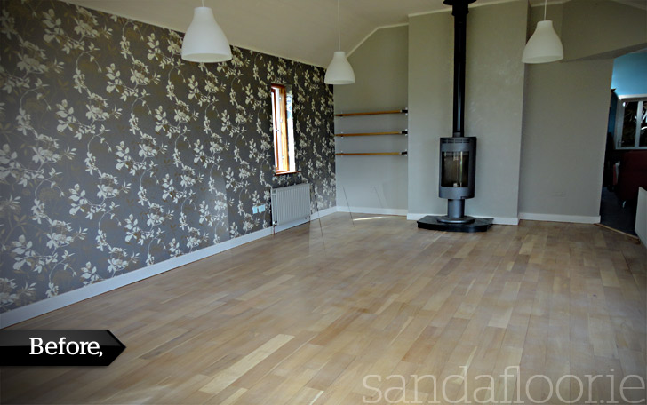 Oak Floor Sanding (Dining Room) Naas, Kildare - Before