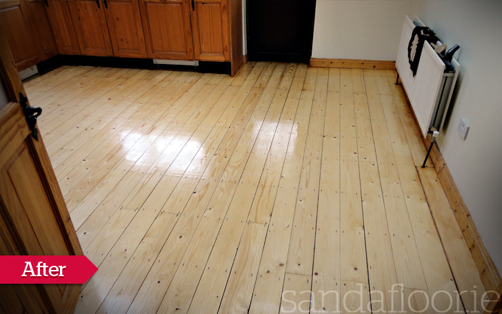 Pine Floor Sanding (Kitchen) Celbridge, Kildare AFTER